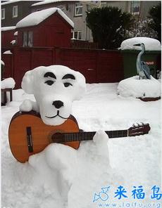 非常有艺术感的雪人