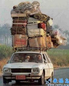 原来车顶也是可以载货的