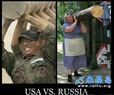 美国大兵PK俄罗斯大妈