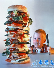 老妈最不疼我,一天就给我吃一个汉堡