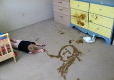 很有艺术天份的宝宝!