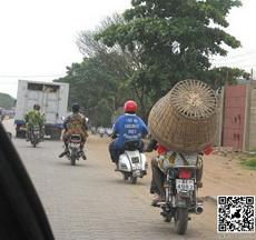 Wearing a helmet