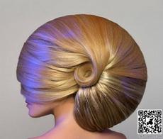 Nautilus shell hair.