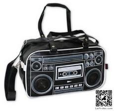 Ghettoblaster Bag Black with built-in speakers