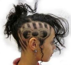 Amazing Hair Tattoos