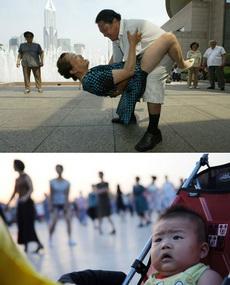人民广场上大妈大爷的健身舞,小伙伴惊呆了!