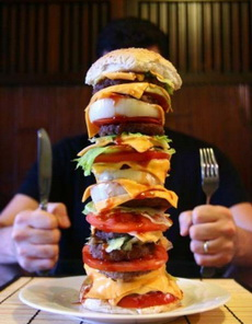医生说:一顿只能吃一个汉堡