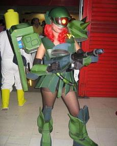 美女版机器战士太诱惑了