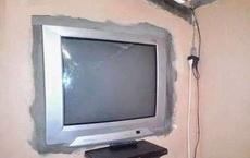 老公说给我买了和别人家一样液晶电视!