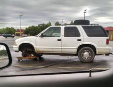 我把轮胎换好啦