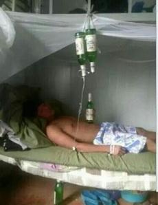 光喝不过瘾,再吊两瓶
