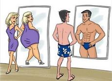 男女照镜子的区别