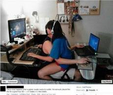 一对爱玩游戏的情侣