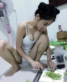 会做饭的女人很美