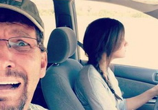 老婆开车的时候
