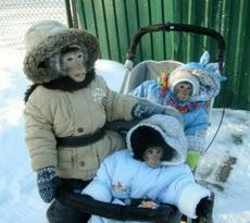 天气不错带孩子出去走走!