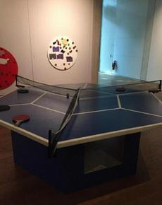 这个乒乓球桌怎么玩