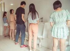 最骚的上厕所姿势了