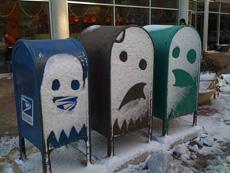 """另类街头""""雪""""涂鸦"""