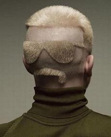 后脸式发型