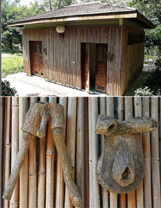 农家乐里超雷人的男女厕所标志