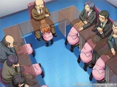 公司领导层开会中
