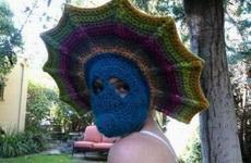 美女全方位保护头罩