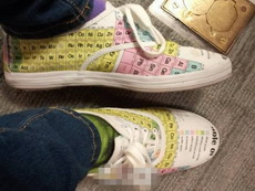 化学考试黄金战靴,此神器主人平常都舍不得穿出来,怕会弄脏,原因你懂的……