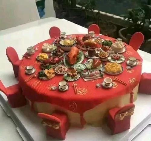 吃一个蛋糕就吃了一次满汉全席!