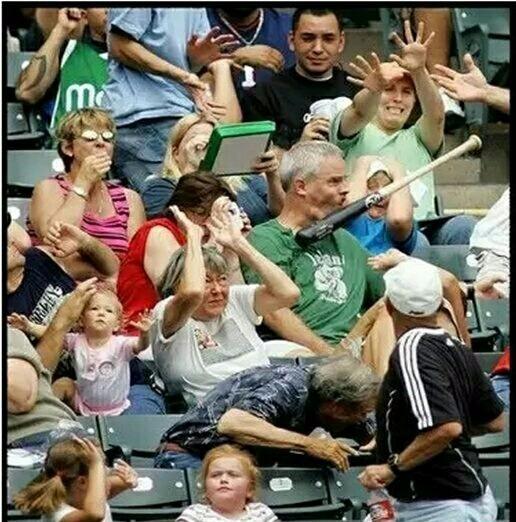 看球有風險,大爺你最爺們,都不躲!
